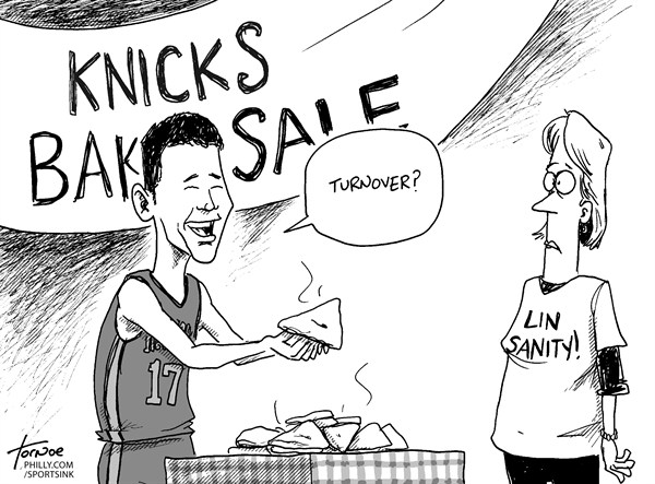 Rob Tornoe - Philadelphia Inquirer - Jeremy Lin - English - Jeremy Lin, basketball, New York Knicks, NBA, Linsanity, turnover
