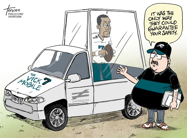 Rob Tornoe - Philadelphia Inquirer - Michael Vick Eagles Injury - English - NFL,sports,Philadelphia,Eagles,Andy Reid,Michael Vick