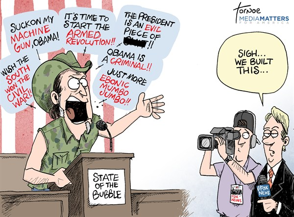 Rob Tornoe - Media Matters -  - English - SOTU, State of the Union, Fox News, Media, Ted Nugent, gun control, guns,